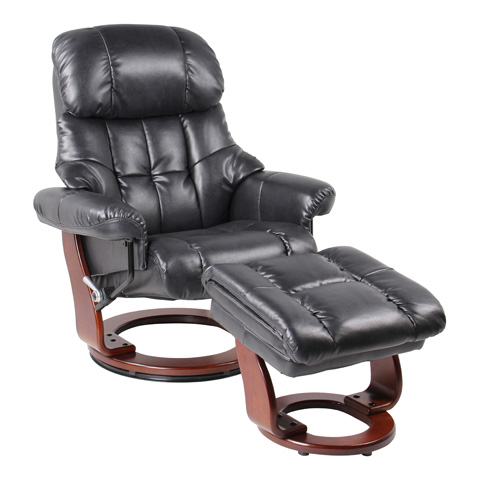 Benchmaster Furniture, Llc - Sorrento Black Recliner - 7438WH-001RF-29