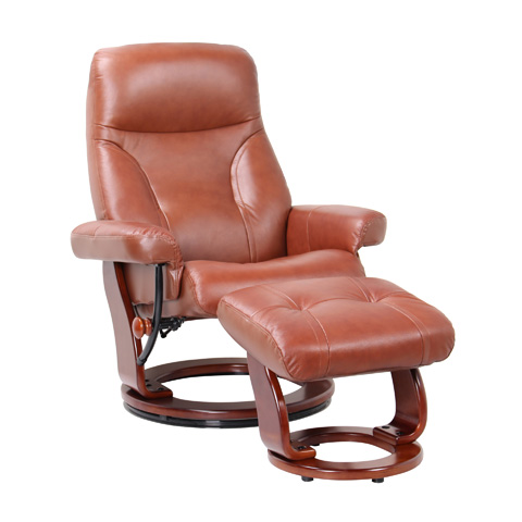 Image of Milano Cognac Swivel Glider