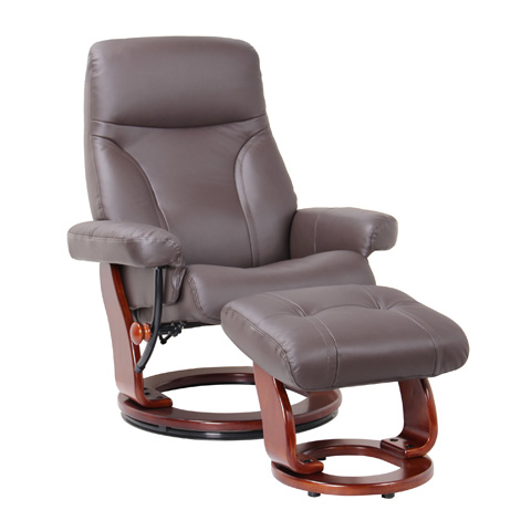 Benchmaster Furniture - Milano Kona Brown Swivel Glider - 7440-073-29