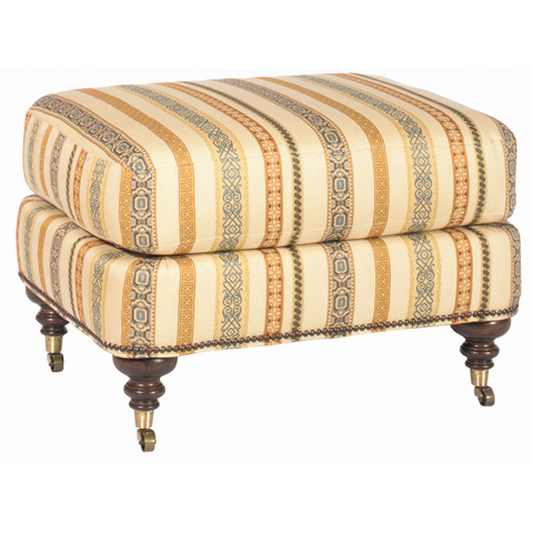 Emerson Bentley - James Michael Ottoman with Casters - 230-00