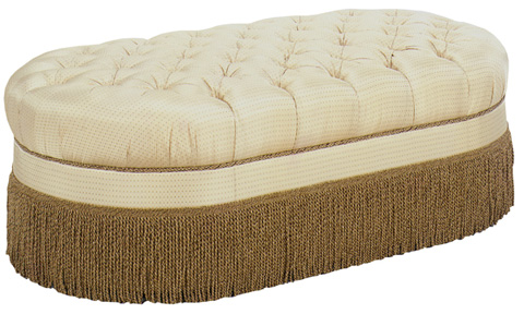 Emerson Bentley - Gretchen Oval Tufted Ottoman - 277-00