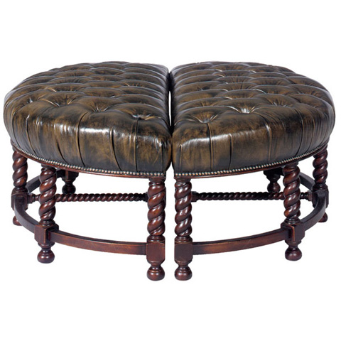 Emerson Bentley - Dietra Leather Ottoman - 284-00