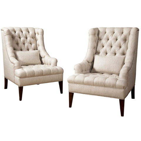 Image of Davino Tufted Wing Chair