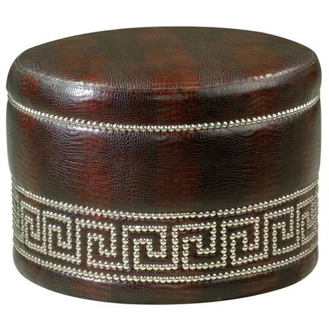 Emerson Bentley - Juliet Round Leather Ottoman - 7333-00
