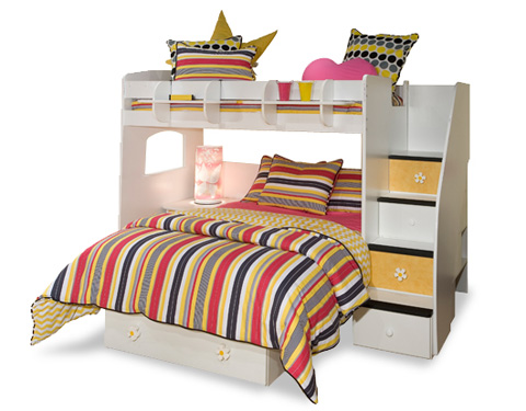 Berg Furniture - Twin Over Full Loft Bed - 23-815-94
