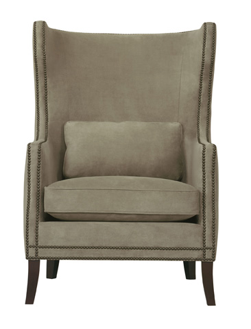 Bernhardt - Leather Wingback Accent Chair - N1712L