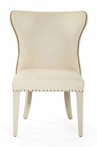 Image of Salon Upholstered Wing Dining Chair