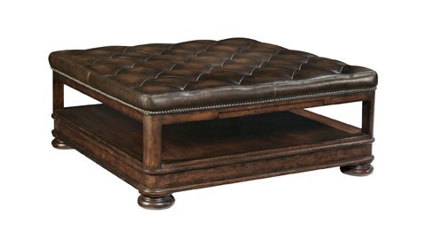 Image of Tufted Upholstered Cocktail Ottoman