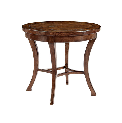 Image of Vintage Patina Round End Table