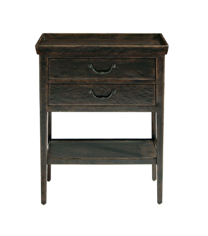Image of Vintage Patina Two Drawer Nightstand
