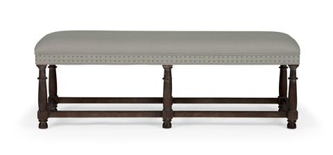 Bernhardt - Belgian Oak Upholstered Bench - 337-508C