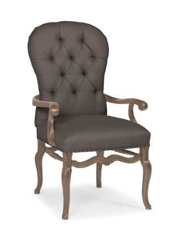 Image of Belgian Oak Upholstered Arm Chair
