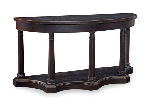 Bernhardt - Belgian Oak Charcoal Console Table - 337-913C