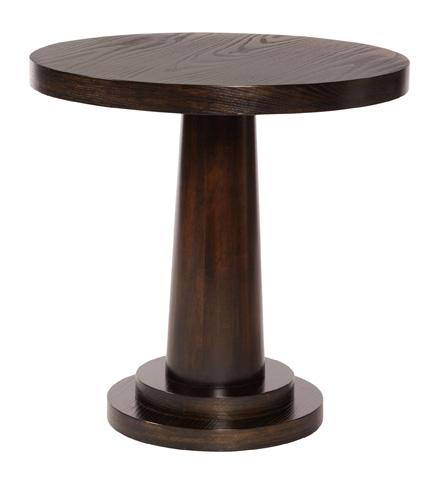 Image of Mercer Round Pedestal End Table