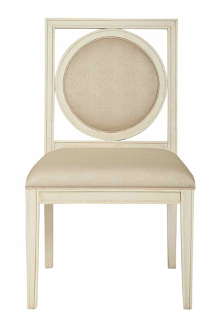 Image of Salon Side Chair with Upholstered Seat