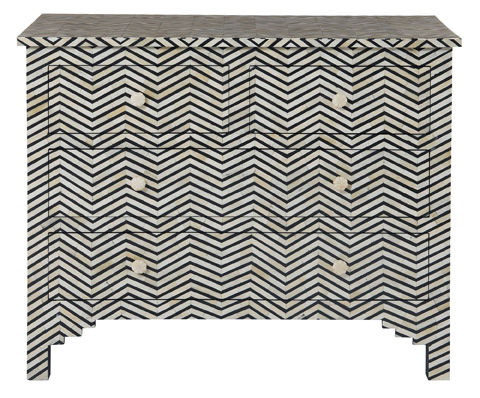 Image of Herringbone Drawer Cabinet