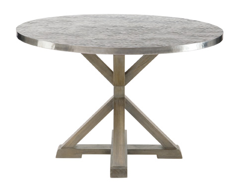 Image of Stockton Round Metal Dining Table