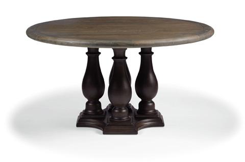 Bernhardt - Belgian Oak Round Dining Table - 337-275/273C
