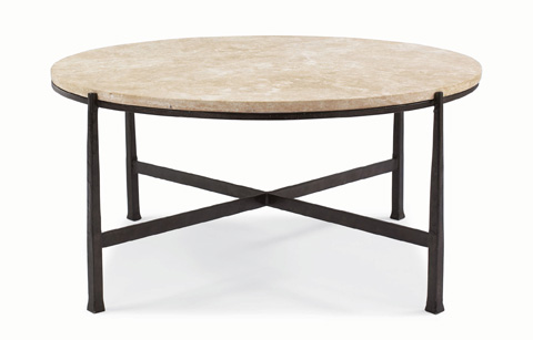 Image of Duncan Round Metal Cocktail Table