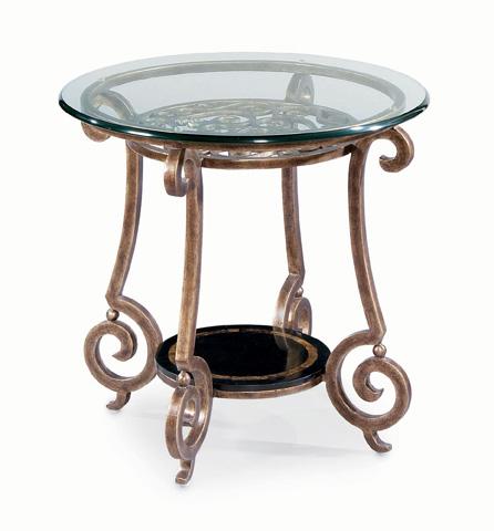 Bernhardt - Zambrano Round Glass Top End Table - 582-123, 582-124