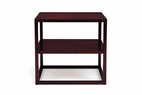 Image of Rosenau Rectangular Lamp Table with Shelf