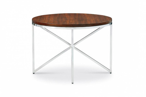 Image of Domicile Side Table with Walnut Top