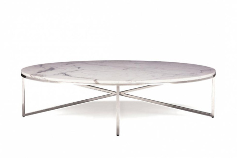 Image of Domicile Cocktail Table with Marble Top