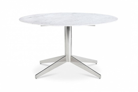 Bolier & Company - Domicile Round Carrara Marble Dining Table - 65009
