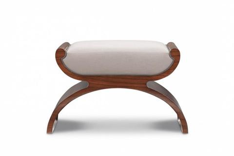 Image of Modern Luxury Biedermeier Stool