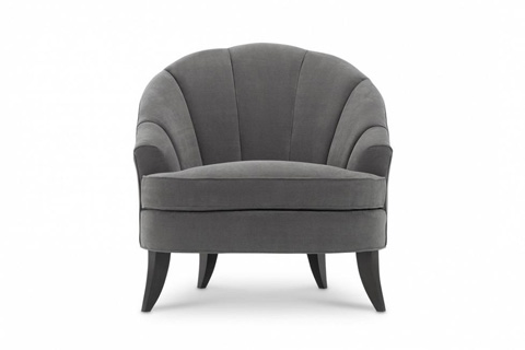 Image of Modern Luxury Club Chair with Channel Back