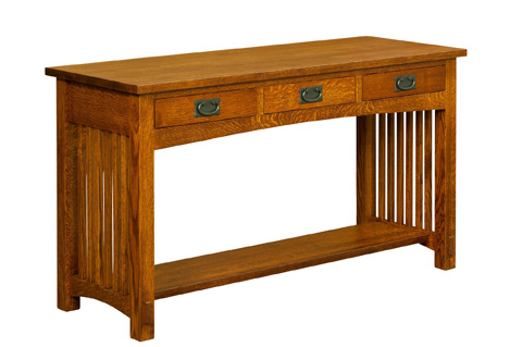 Image of Bungalow Three Drawer Sofa Table