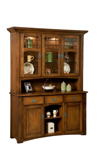 Borkholder Furniture - Burwick Two Door Hutch and Buffet - 14-1102HBX