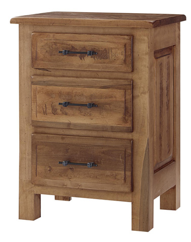 Image of Burwick Three Drawer Nightstand