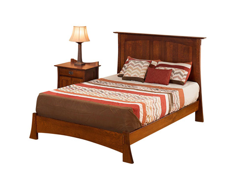 Image of Highland Queen Panel Bed with Low Footboard