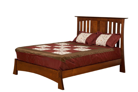 Image of Highland Queen Slat Bed with Low Footboard