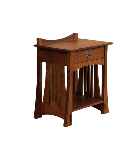 Image of Highland One Drawer Open Nightstand