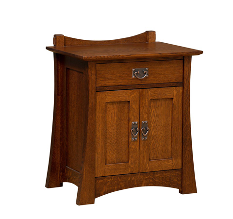 Image of Highland One Drawer Two Door Nightstand