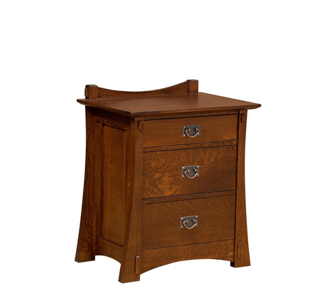Image of Highland Three Drawer Nightstand
