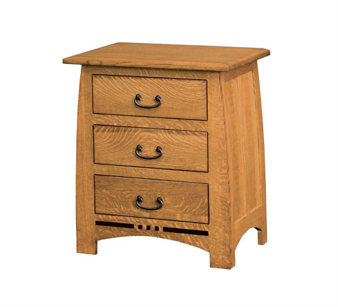 Image of Signature Three Drawer Nightstand