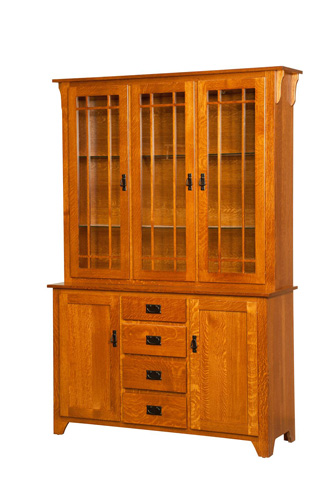 Borkholder Furniture - Mission Three Door Hutch and Buffet - NC-1103HBX