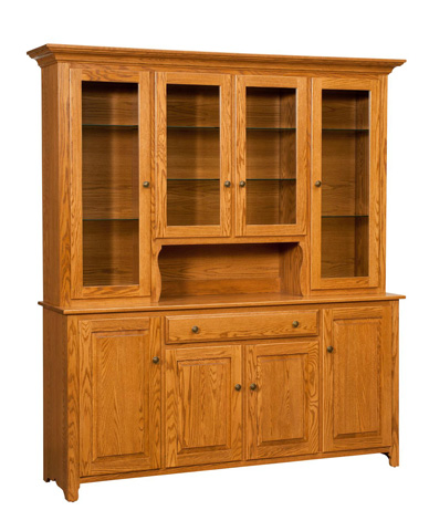 Image of Traditional Four Door Hutch and Buffet