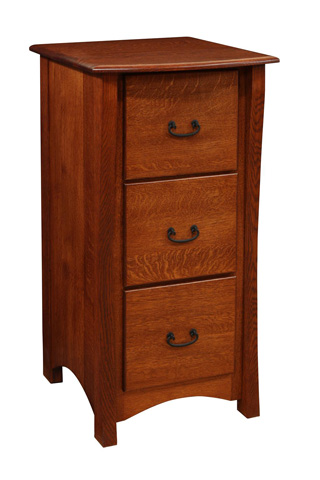 Image of File Cabinet with Three Drawers