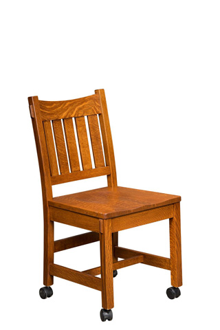 Borkholder Furniture - Dunkirk Side Chair with Casters - NC-9014SCX-015