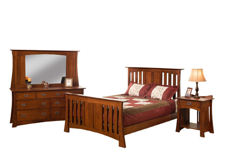 Image of Highland Slat Bed in King