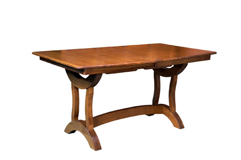 Image of Crescent Trestle Solid Top Pub Table