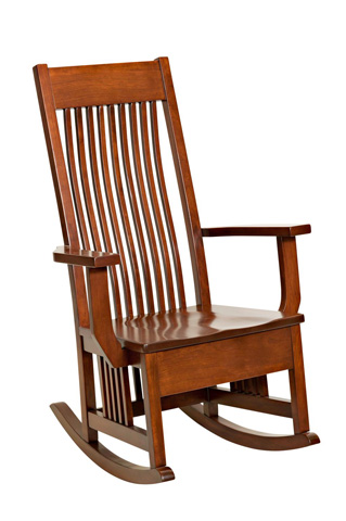 Image of Mission Royale Rocker with Wood Seat