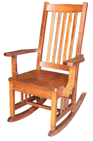 Image of Regular Mission Rocker with Wood Seat