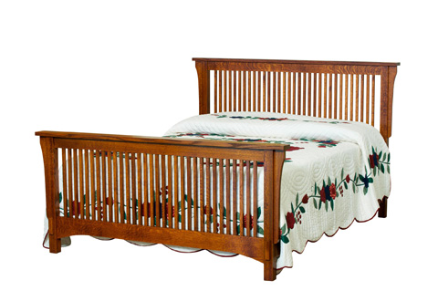 Borkholder Furniture - Bungalow Queen Spindle Headboard - 13-1501QHB