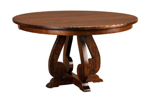 Borkholder Furniture - Burwick Solid Top Pedestal Dining Table - 14-8004STX