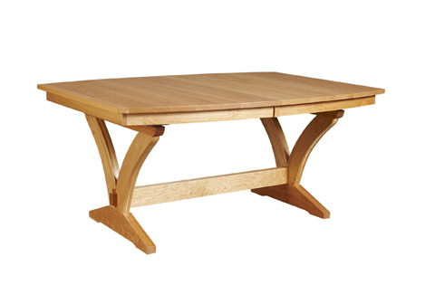 Borkholder Furniture - Transitions Solid Top Trestle Dining Table - 40-8001STX